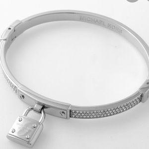Michael Kors Sterling Silver Plated Lock Bracelet